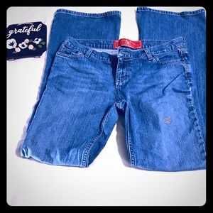 Lucky Dungarees Distressed Bootcut Jeans